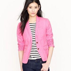 J. Crew Schoolboy Blazer in vibrant pink size 10
